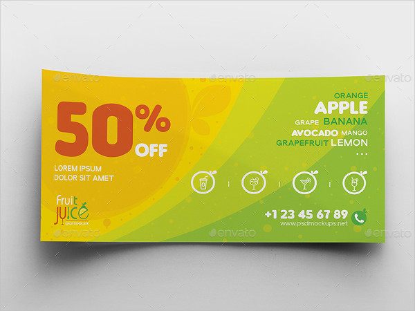 Juice Shop Gift Voucher And Name Card Template