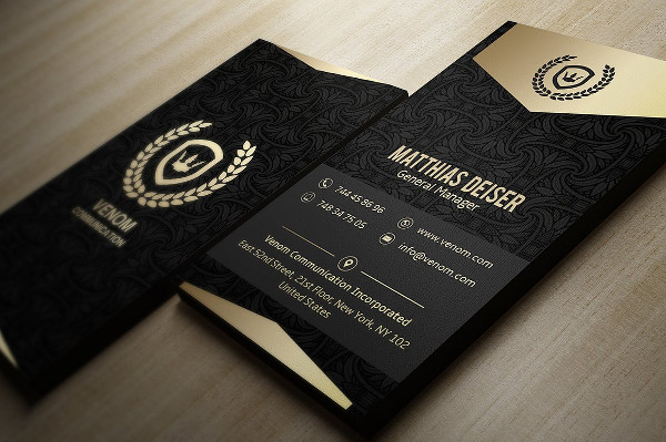 Gold And Black Business Card Designs