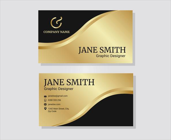 Free Gold Corporate Business Card Inspiration