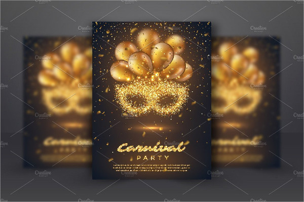 Golden Carnival Poster Template