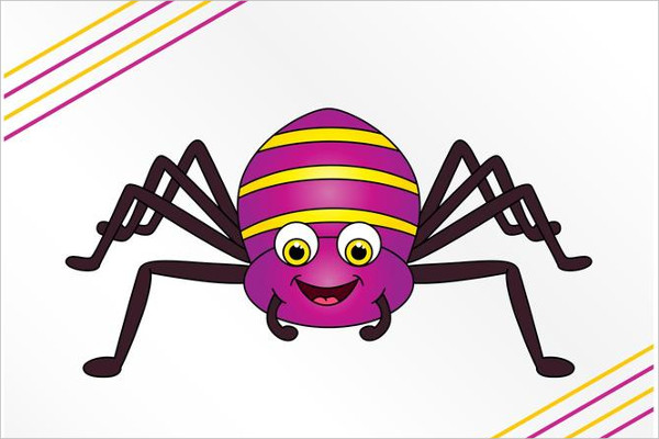 Happy Cartoon Spider Logo Free