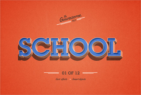High Quality Retro Text Effects