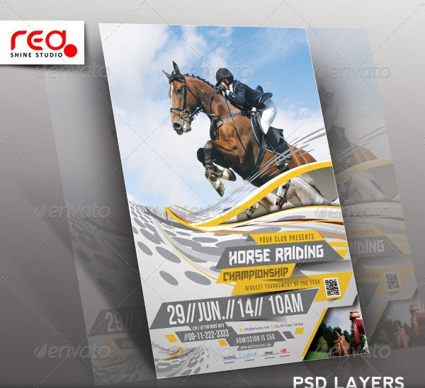 Horse Riding Flyer or Poster Template