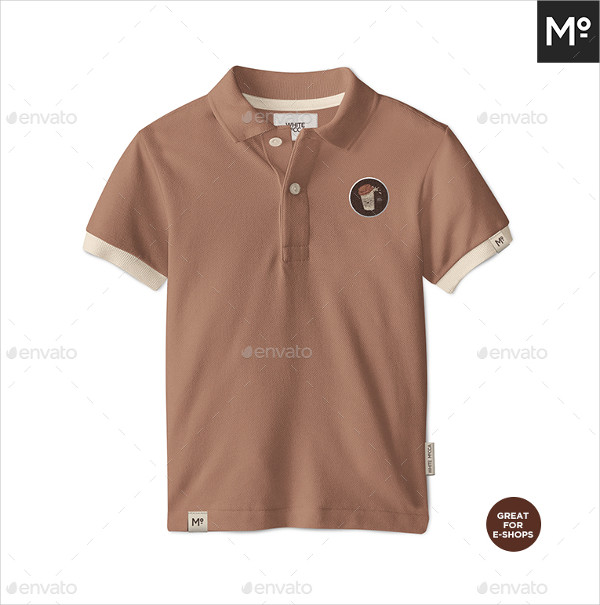 Custom Kids Polo Shirt Mock-Up