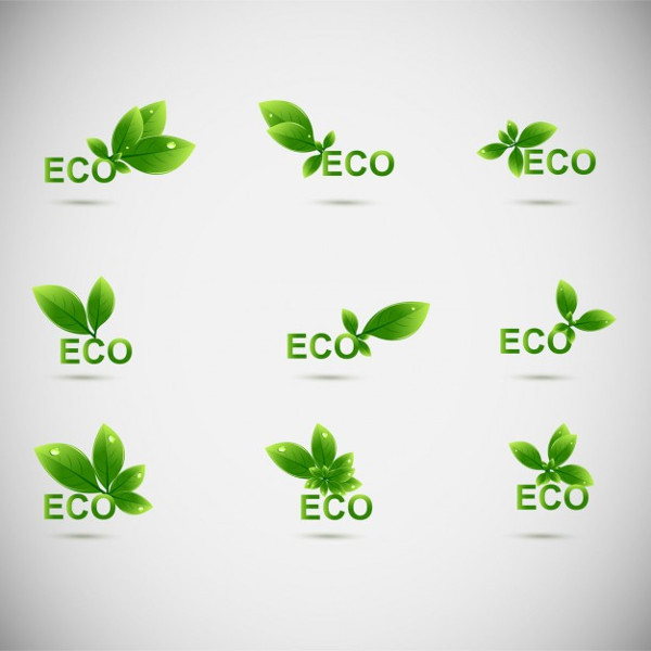 Leaves Eco Logos Free Vector