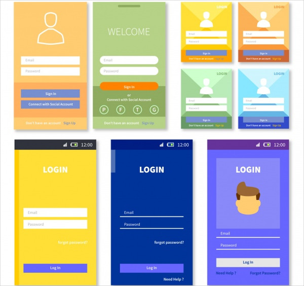 Login Form Templates Collection Free Download