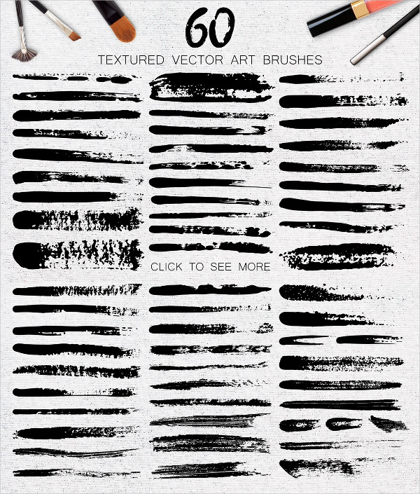 Mascara Vector Art Brushes Collection