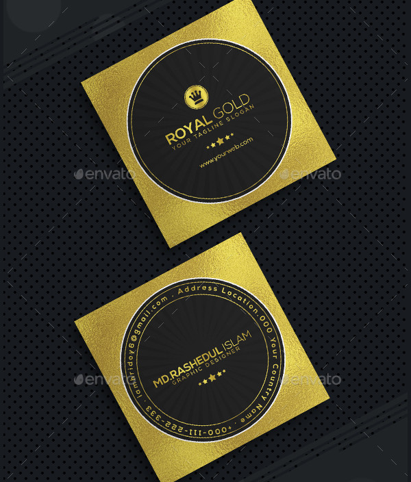 Mini Royal Gold Business Card Template