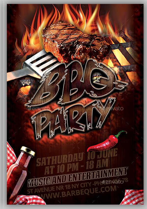 BBQ Catering Flyer Template