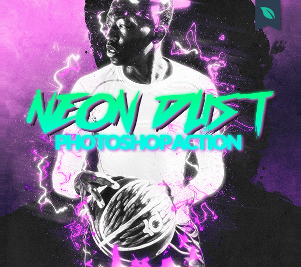Neon Dust Photoshop Actions