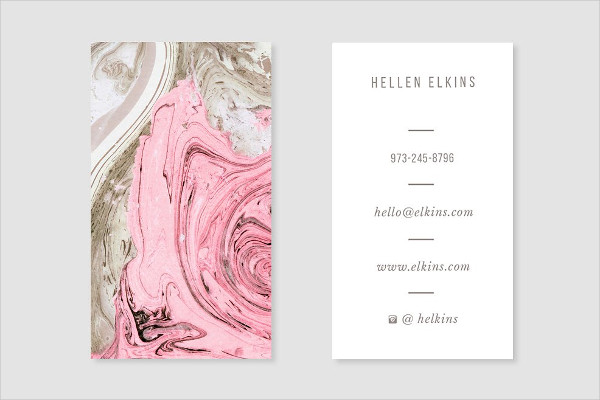 Nude + Pink Marble Business Card