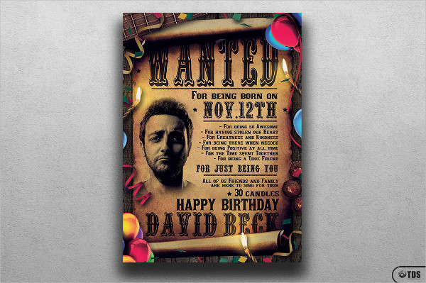 PSD Western Poster Template