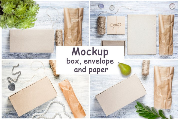 Mockups of Envelope and Paper