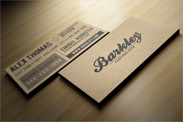 Personal Kraft Paper Business Card