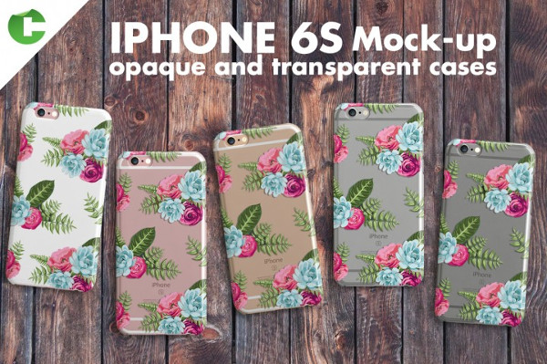 Iphone 6S Case & Device Mock-Up