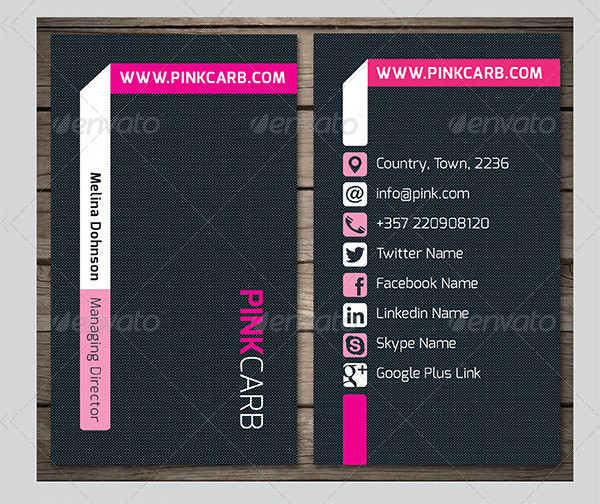 Pink Carb Business Card Template