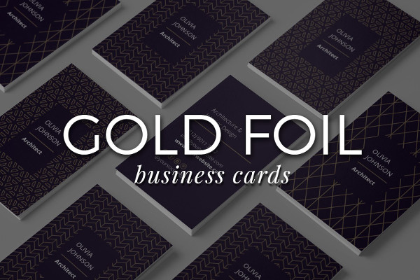 Professional Gold Foil Business Cards