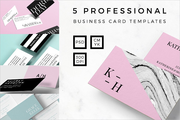 Professional Pink Business Cards Bundle