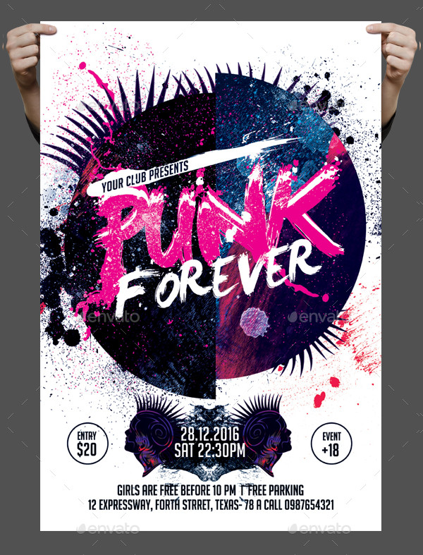 Punk Forever Flyer Template
