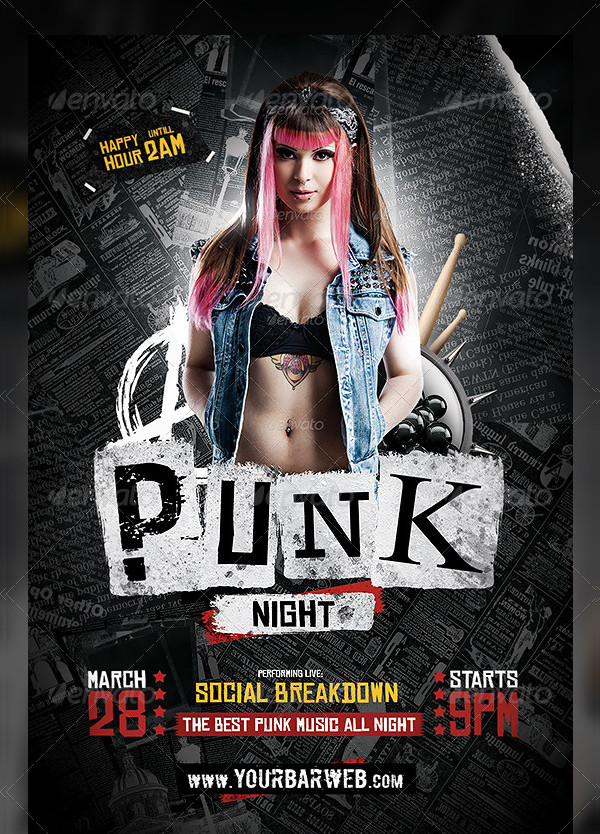Punk Night Flyer Template