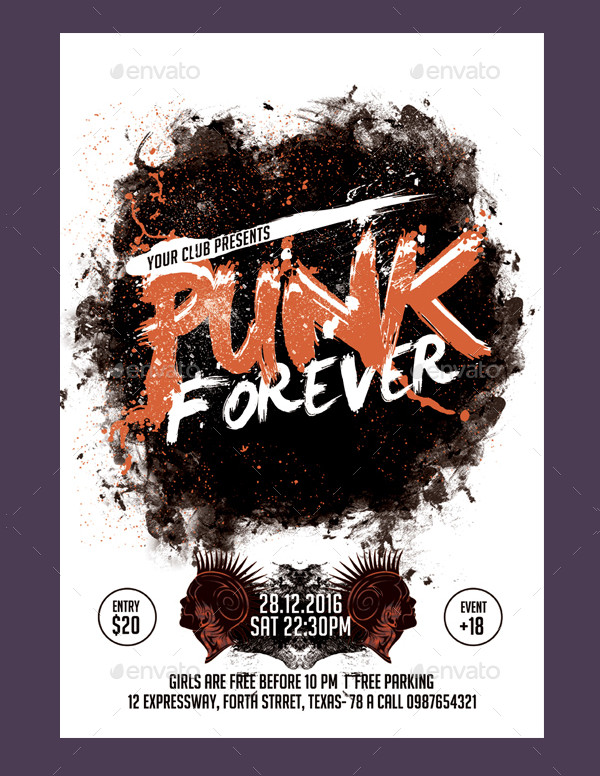 Punk Band Flyer Template