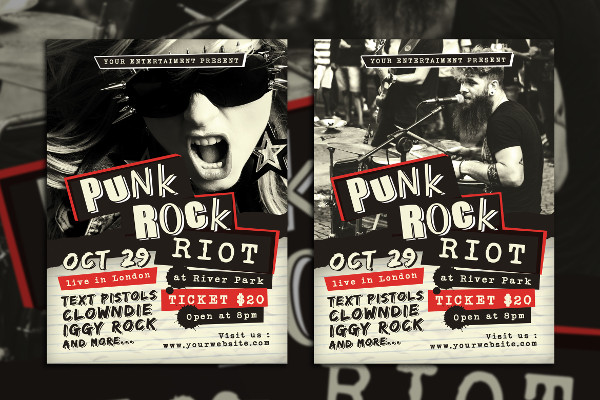 Punk Rock Concert Flyer Template