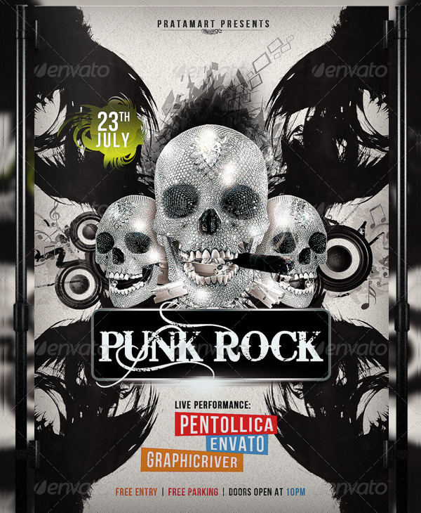 Punk Rock Flyer Template
