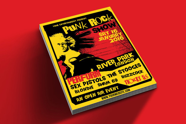 Punk Rock Show Flyer Template
