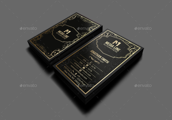 Retro Gold Business Card PSD