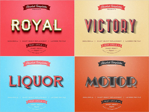 30 Photoshop Text Styles Download