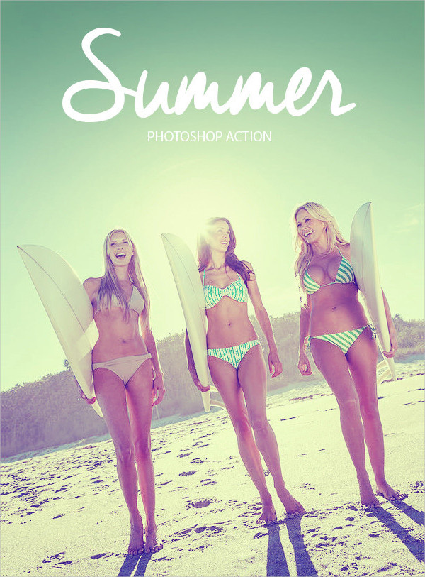 Retro Summer Photoshop Action