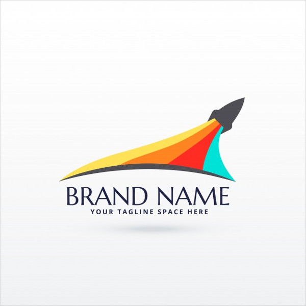 Rocket Logo and Colored Stripes Free Download