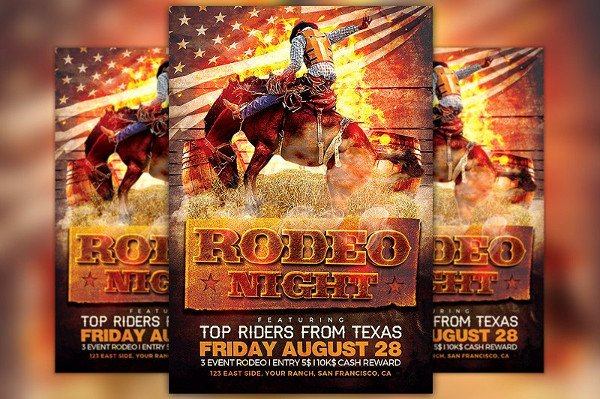 Rodeo Night Flyer Template