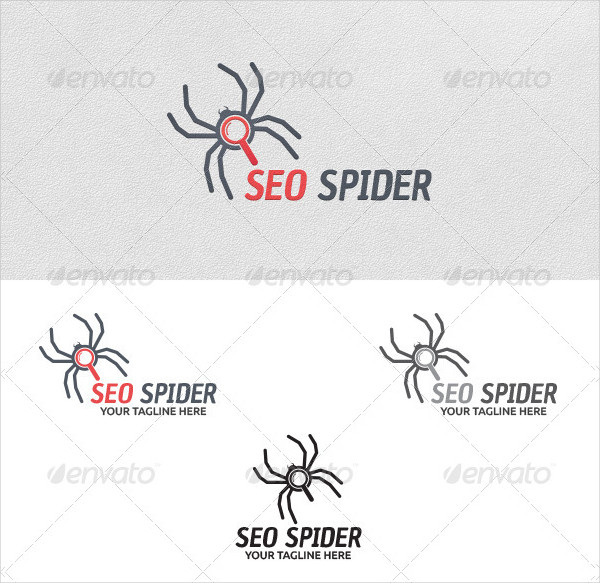 SEO Spider Vector Logo Template
