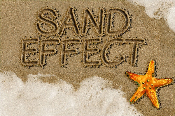 Sand Writing Summer Photoshop Action