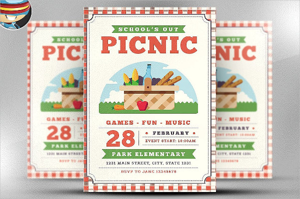 School Out Picnic PSD Flyer Template