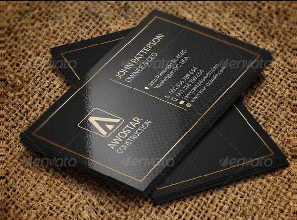 Simple Black & Gold Business Card Template