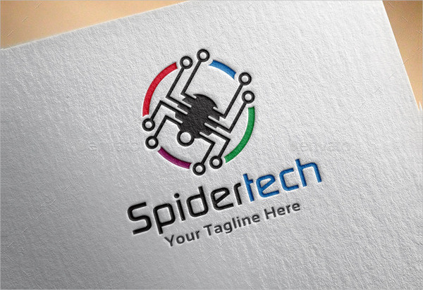 Spider Tech Logo Template