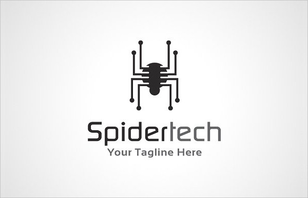Spider Technology Logo Template
