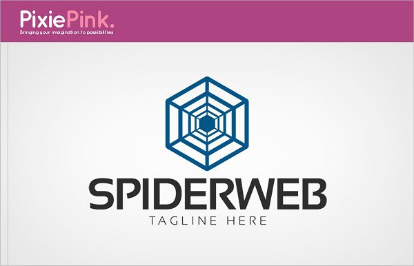 Spider Web Stylish Logo Template