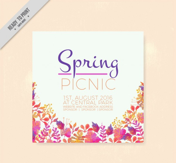 Spring Picnic Flyer Free Download