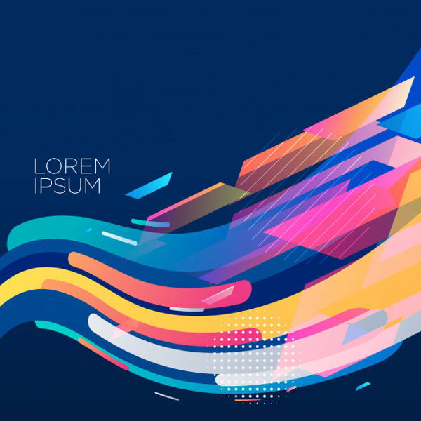 Stylish Colorful Wave Background Design Free Download