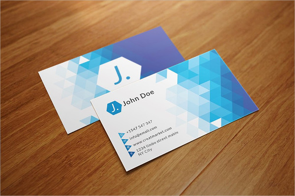 Triangle Polygon Business Card Template