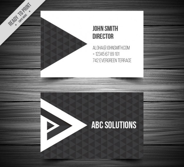 Triangles Personal Business Card Free Download