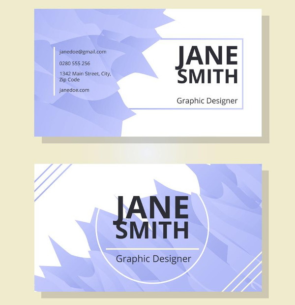 Watercolor Business Card Template Free Download