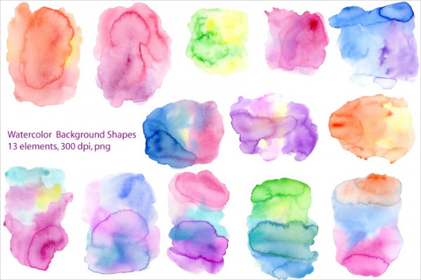 Watercolor Background Shapes
