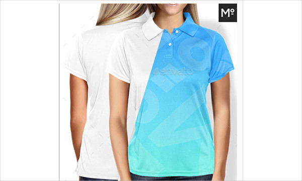 Cool Women Polo Shirt Mock-up Design