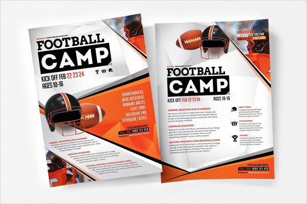 A4 Football Camp Poster Template