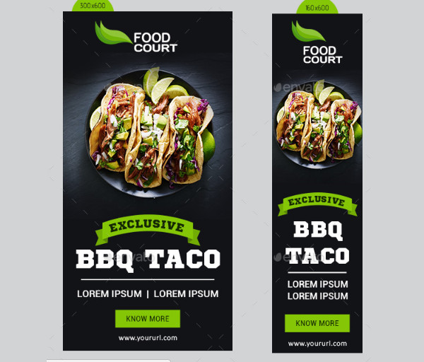 Awesome Food Ad Banners Set