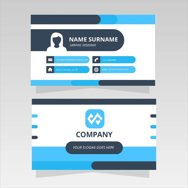 Abstract Minimalistic Business Card Free
